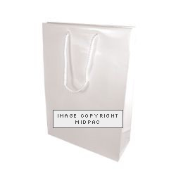 250mm White Gloss Laminated Paper Carrier Bags