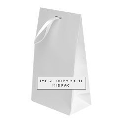 White Matt Laminated Ribbon Bags