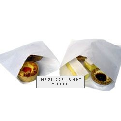 8x8in White Paper Bags