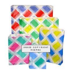 13x14in Diamond Design Paper Bags
