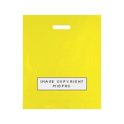 15x18in Yellow Polythene Carrier Bags