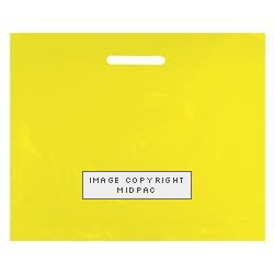 22x18in Yellow Polythene Carrier Bags