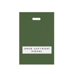 10x16 Dark Green Polythene Carrier Bags