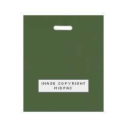15x18in Dark Green Polythene Carrier Bags