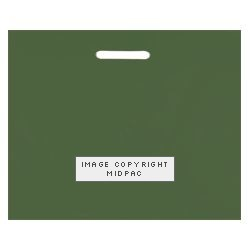 22x18in Dark Green Polythene Carrier Bags