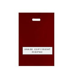 10x16 Burgundy Polythene Carrier Bags