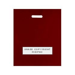 15x18in Burgundy Polythene Carrier Bags