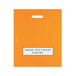 15x18in Orange Polythene Carrier Bags