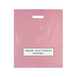 15x18in Pink Polythene Carrier Bags
