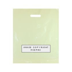 15x18in Ivory Polythene Carrier Bags