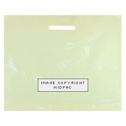 22x18in Ivory Polythene Carrier Bags