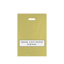 10x16 Gold Polythene Carrier Bags