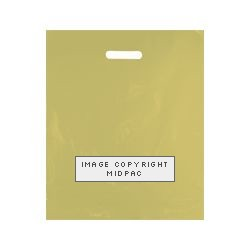 15x18in Gold Polythene Carrier Bags