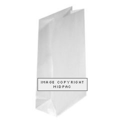 White Block Bottom Paper Bags 120x70x310mm