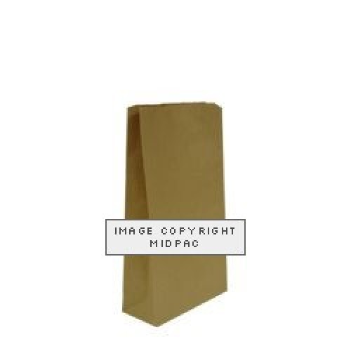 Brown Block Bottom Paper Bags 150x65x310mm