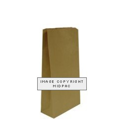 Brown Block Bottom Paper Bags 175x115x345mm