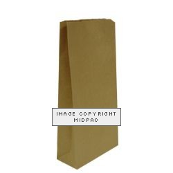 Brown Block Bottom Paper Bags 210x105x485mm