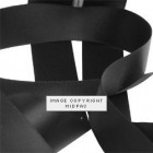 23mm Black Double Faced Satin Ribbon