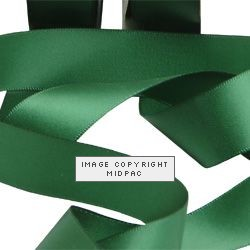 23mm Forest Green Double Faced Satin Ribbon