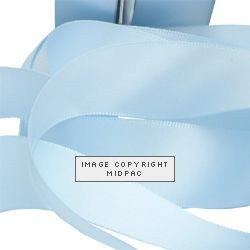 23mm Baby Blue Double Faced Satin Ribbon