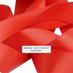23mm Red Double Faced Satin Ribbon