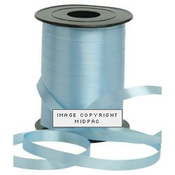 5mm Light Blue Curling Ribbon