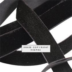 25mm Black Velvet Ribbon