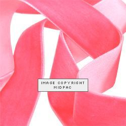 16mm Baby Pink Velvet Ribbon