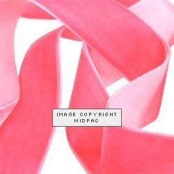 25mm Baby Pink Velvet Ribbon