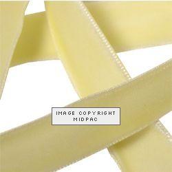 9mm Cream Velvet Ribbon