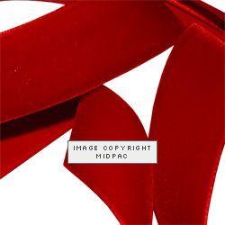 9mm Red Velvet Ribbon