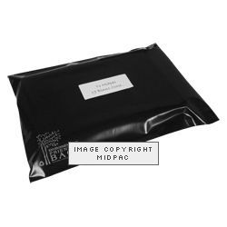 300mm Black Eco Polythene Mailers