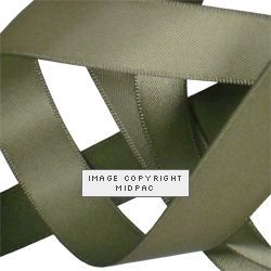 15mm Moss Satin Ribbon