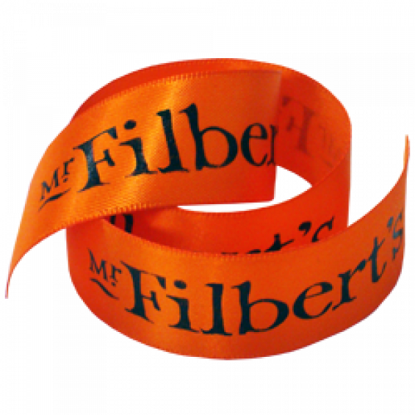 printed ribbon 23mm printed with your own compant logo from just 1 roll