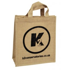 Small Natural Printed Jute Bags