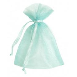 Aqua Organza Bags