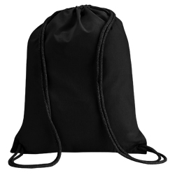 Black Cotton Backpacks