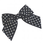 Black Spotty Grosgrain Bows