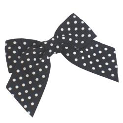 Black Spotty Grosgrain Bows