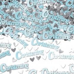 Blue Christening Table Confetti