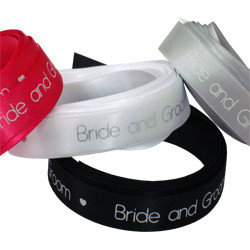 Bride Groom Printed Ribbon