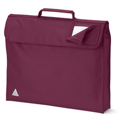 Burgundy School Bags Without Strap