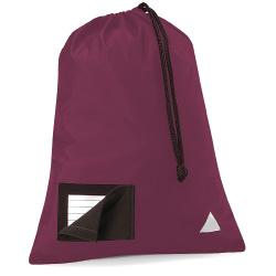 School Pump Bags Burgundy