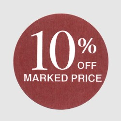 10 Percent Off Label