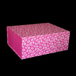220mm Pink Patterned Gift Boxes