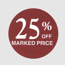 25 Percent Off Label