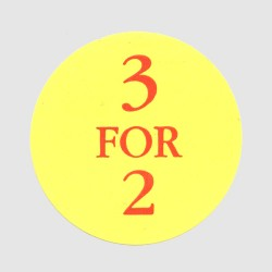 3 for 2 labels