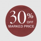 30 Percent Off Label