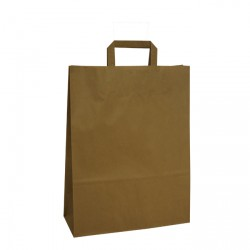 320mm Brown Paper Carrier Bags Internal Handles