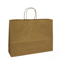 400mm Brown Twisted Handle Paper Carrier Bags